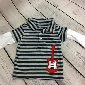 Carter's Long Sleeve Stripe Rugby Shirt Size 9 Mth